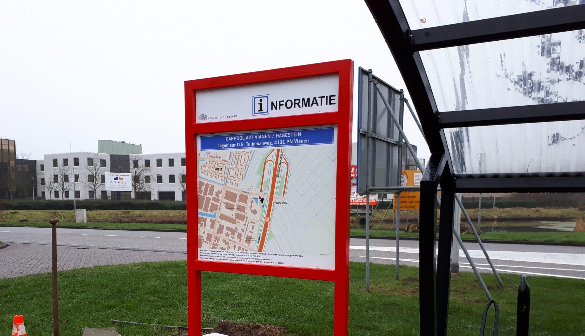 Informatiebord gemeente Vianen