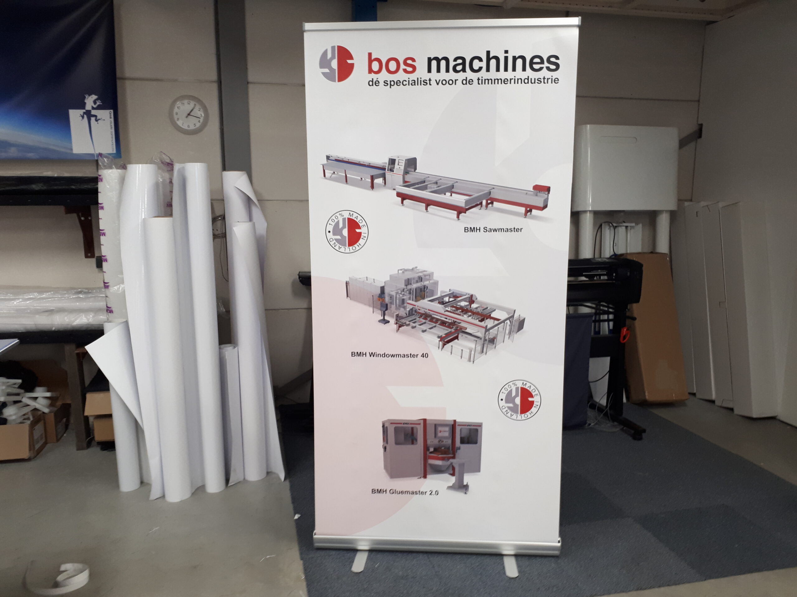 Roll-up banner Bos Machines