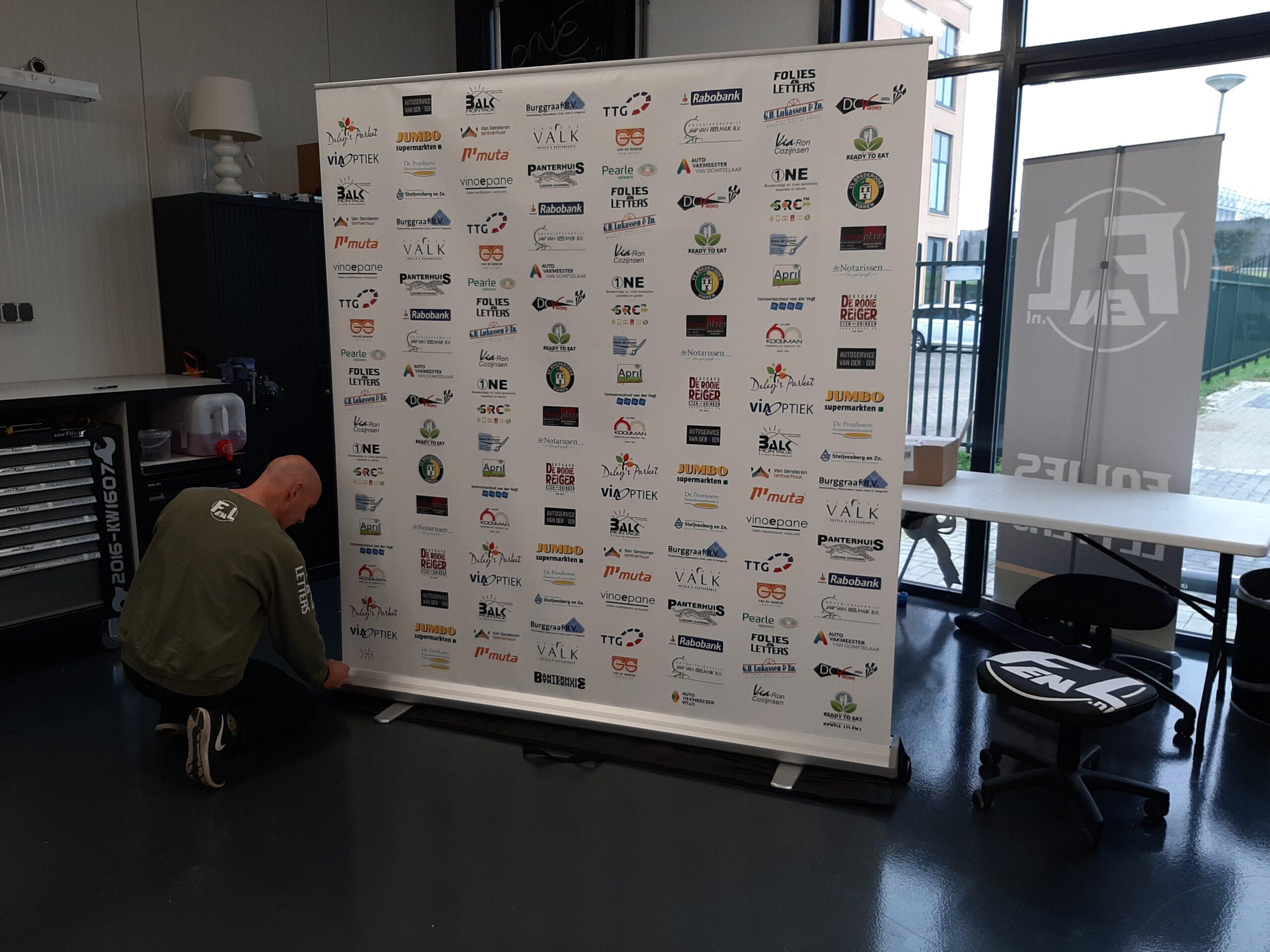 Roll up banner Voetbalvereniging Brederodes