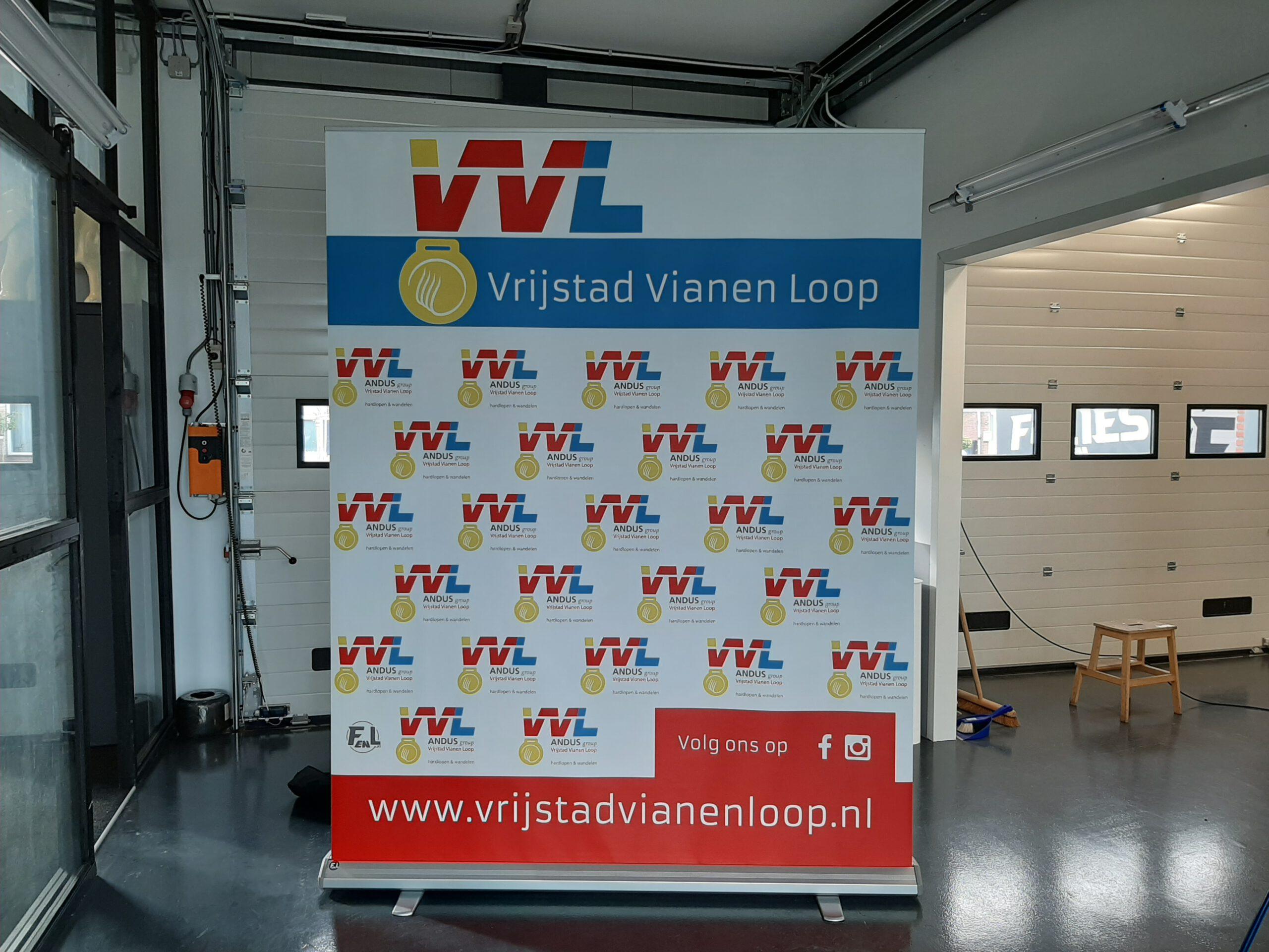 Roll up banner Vrijstad Vianen Loop