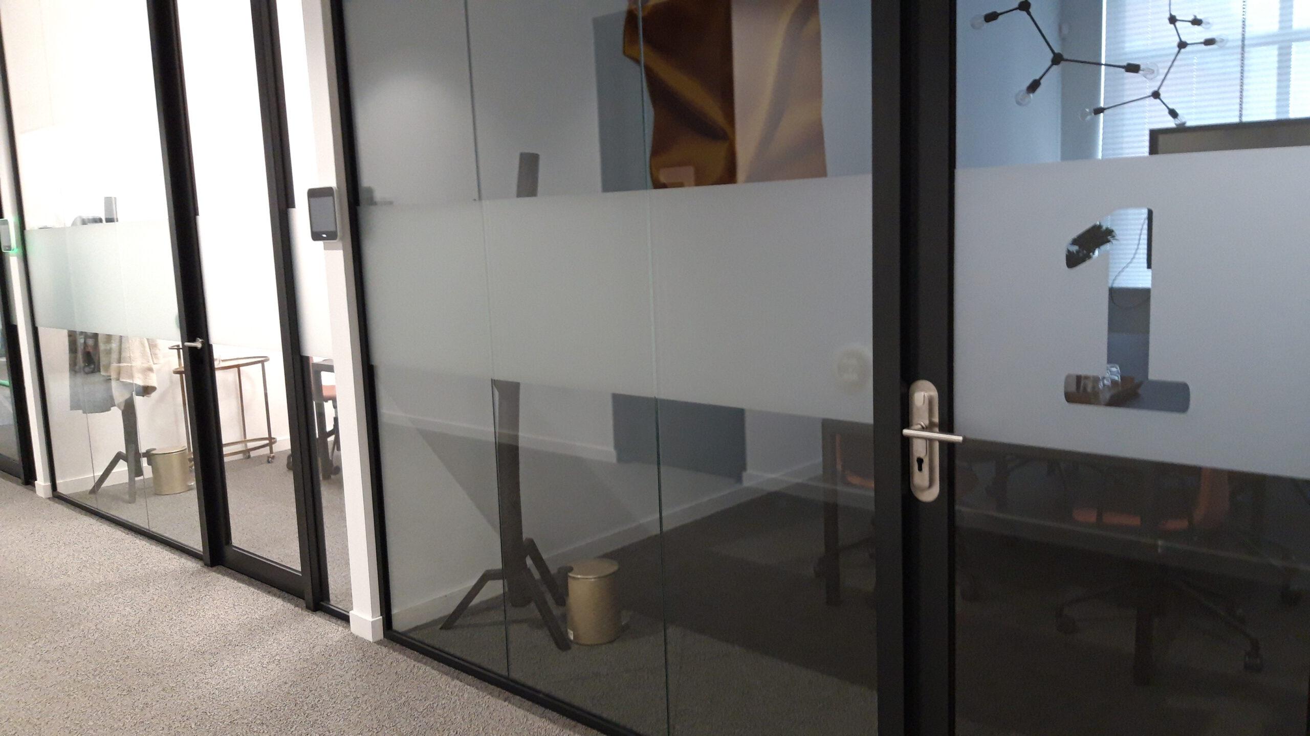 Glasfolie privacy kantoor