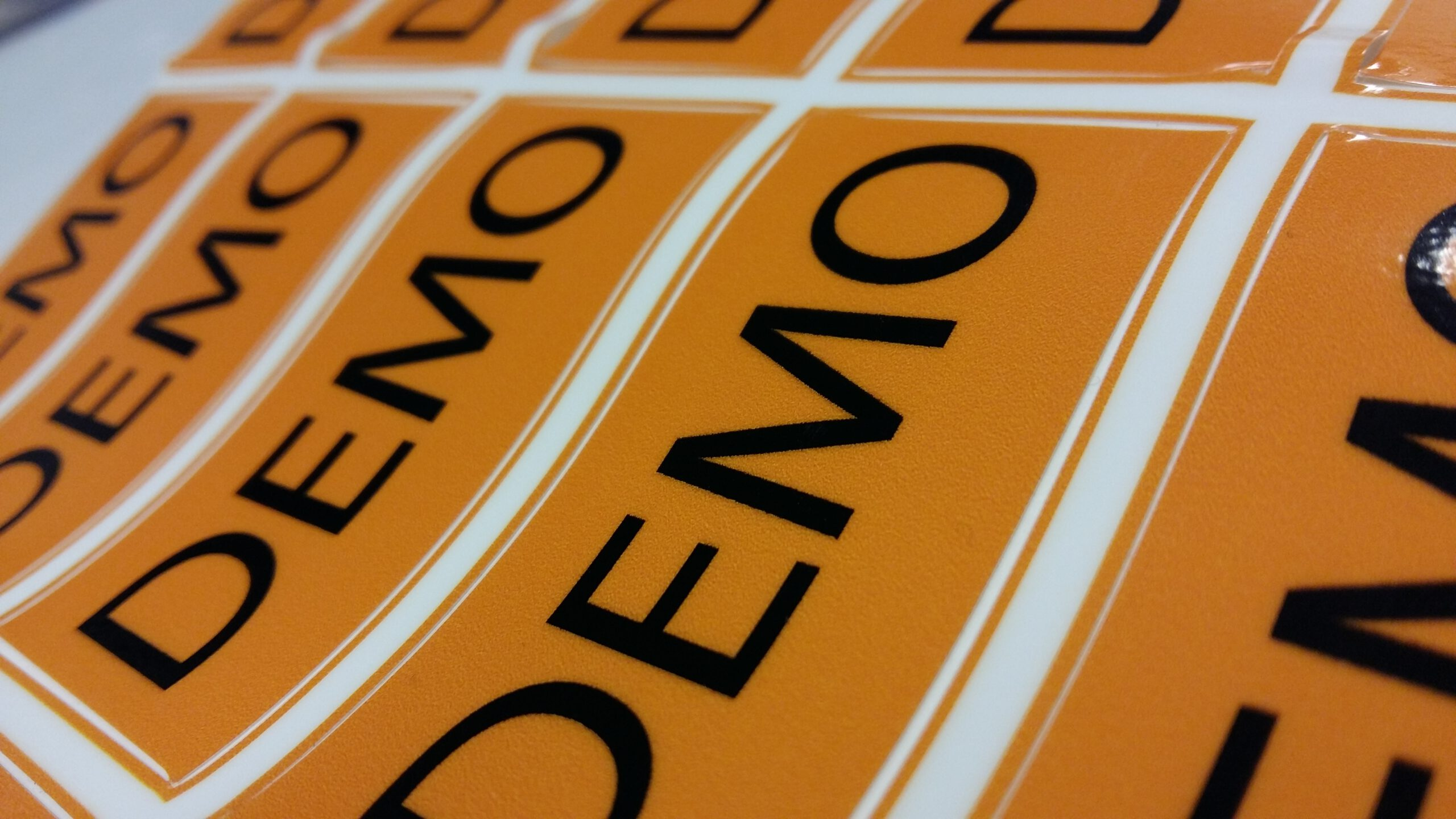 Demo Stickers