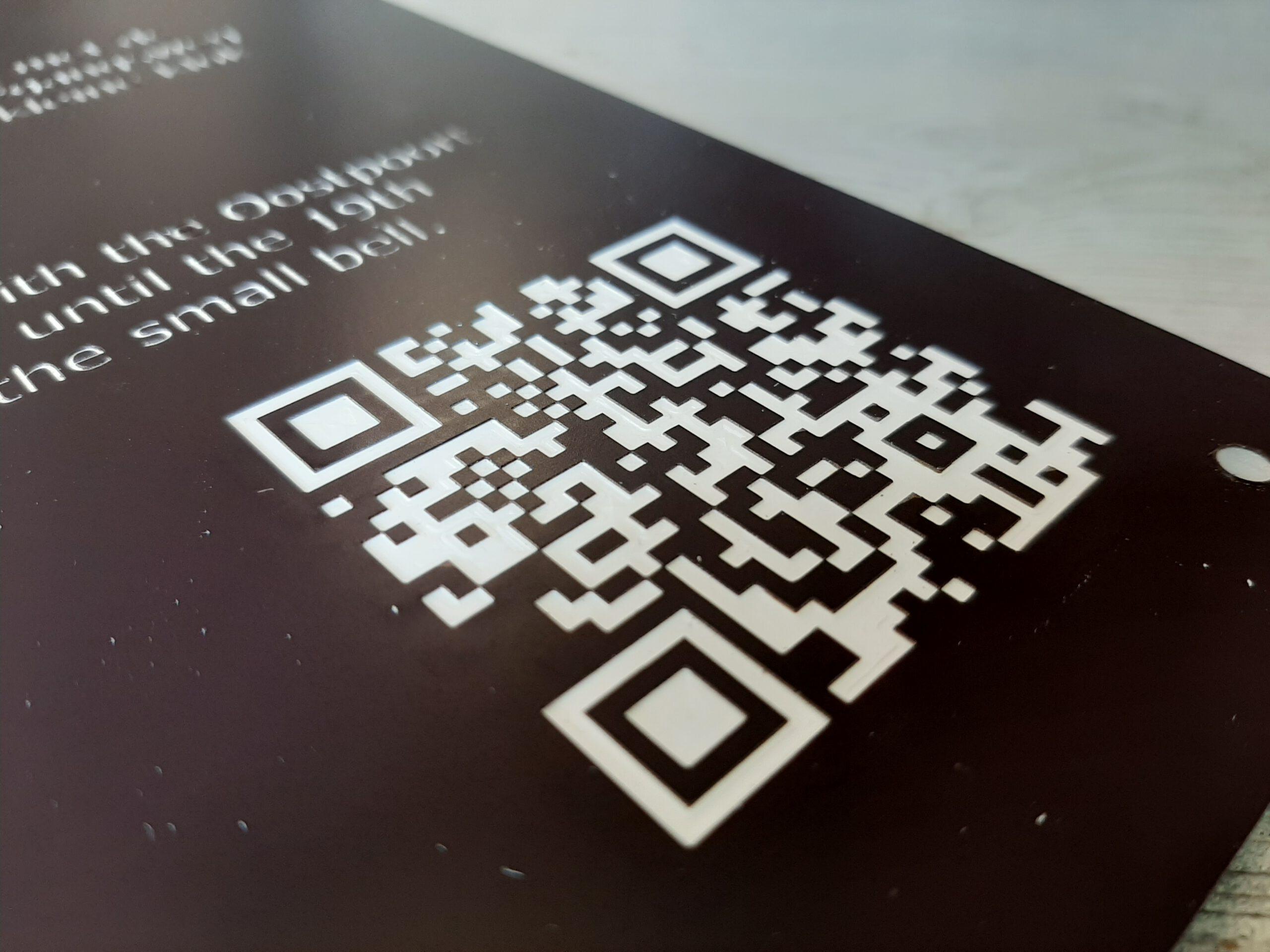 Erfgoed borden Erfgoed pand QR code