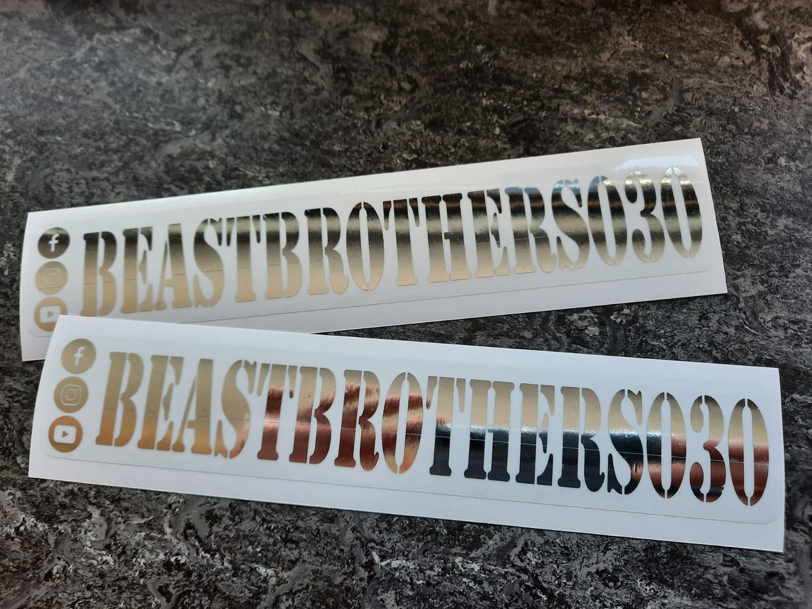 Chroom Stickers